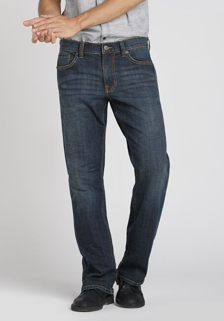 Men's Dark Indigo Wash Classic Straight Jeans