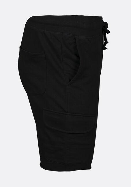 Men's Cargo Knit Jogger Short, BLACK, hi-res