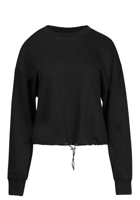 Women's Cinched Waist Sweatshirt