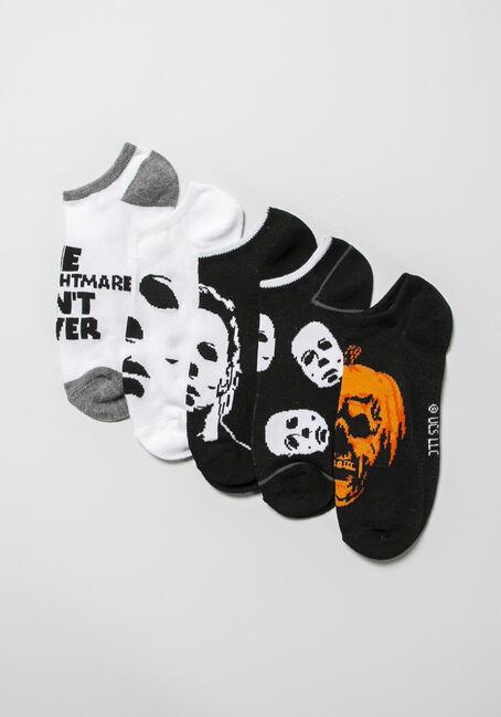 Men's 5 Pair Halloween Socks, MULTI, hi-res