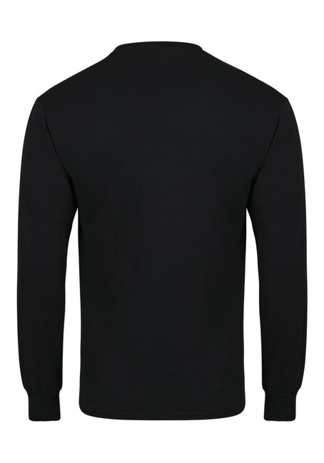 Men's Crew Neck Tee, BLACK, hi-res