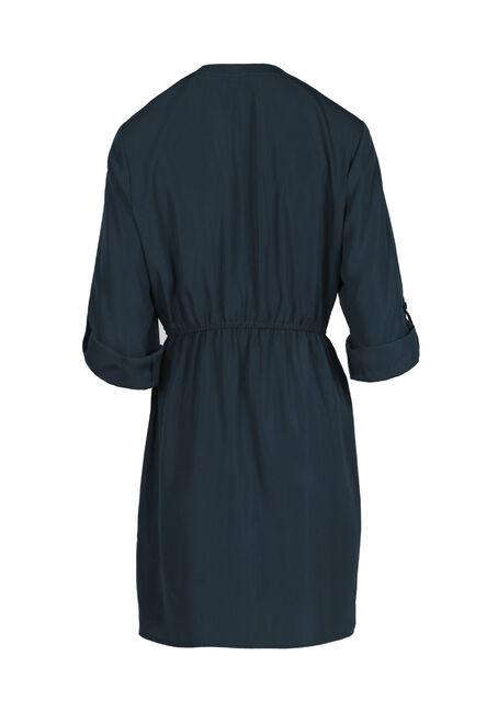 Ladies' Shirt Dress, TEAL, hi-res