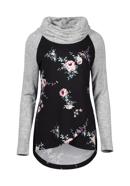 Women's Floral Cowl Neck Top