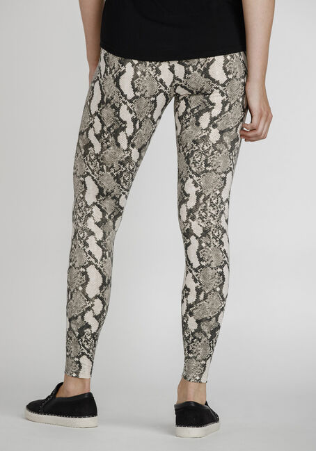Women's Snake Print Legging, NATURAL, hi-res