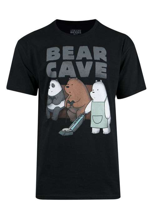 Men's Bear Cave Tee, BLACK, hi-res