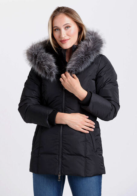 Women's Belted Parka with Fooler