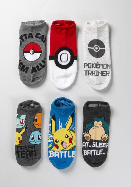 Women's Pokemon Socks, BLACK, hi-res