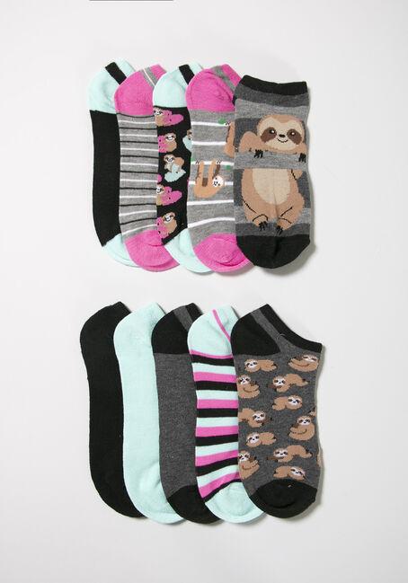 Women's Sloth 10 Pair Socks