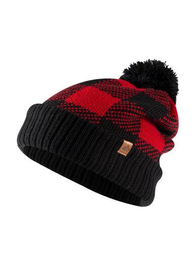 Women's Plaid Hat, RED, hi-res
