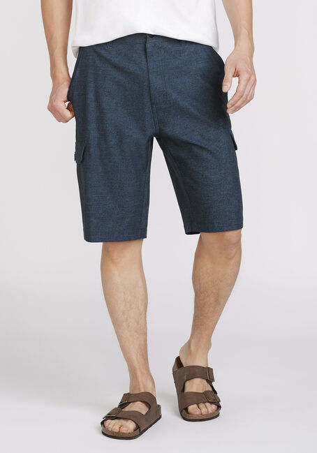 Men's Textured Cargo Hybrid Short