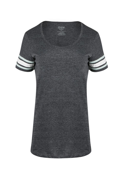 Ladies' Football Tee, CHARCOAL, hi-res
