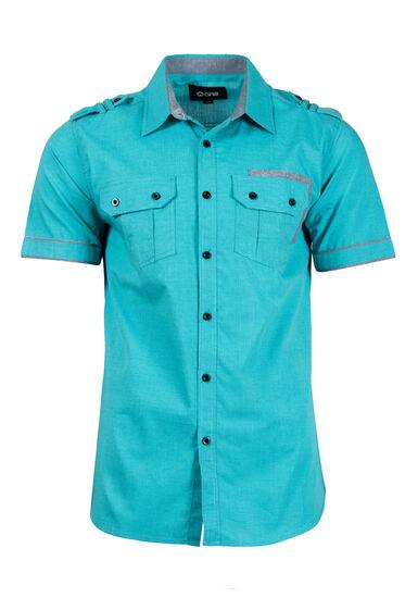 Men's Printed Shirt, AQUA GREEN, hi-res