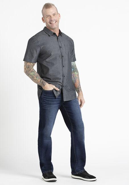 Men's Tonal Print Shirt, CHARCOAL, hi-res