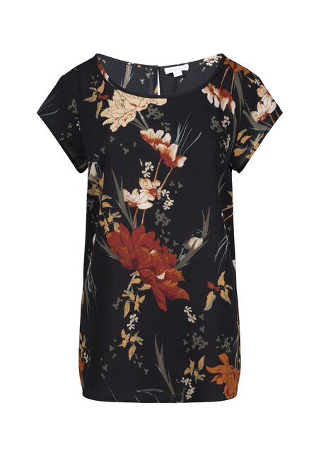 Women's Floral Scoop Neck Tee