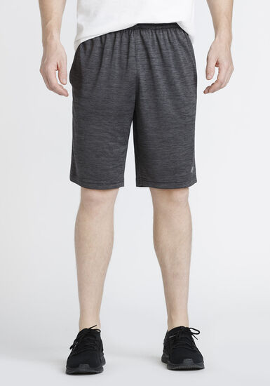 Men's Side Stripe Athletic Short, CHARCOAL, hi-res