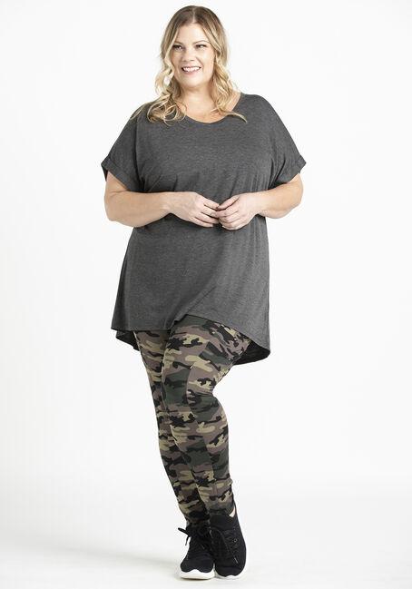 Women's Legging Tee, CHARCOAL, hi-res