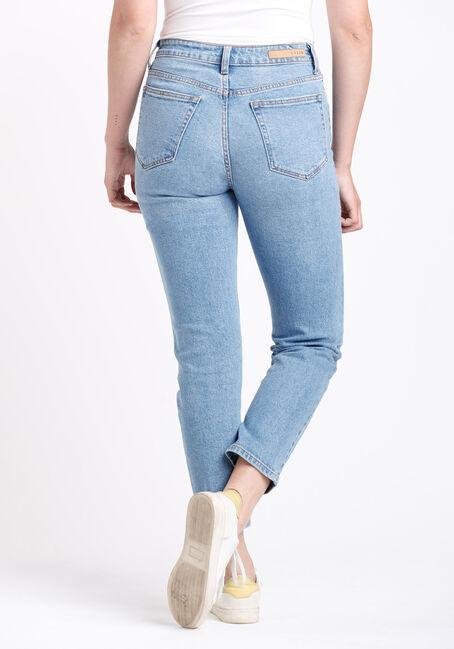 Women's High Rise Slim Straight Jeans, MEDIUM WASH, hi-res
