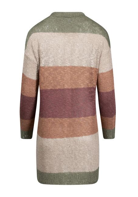 Women's Stripe Cardigan, MULTI, hi-res