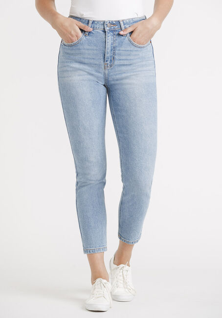 Women's High Rise Slim Straight