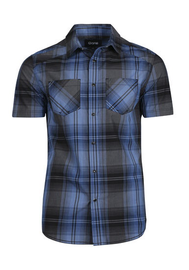 Men's Plaid Shirt, BRIGHT BLUE, hi-res