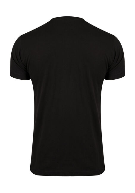 Men's Camping Tee, BLACK, hi-res