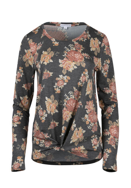 Women's Floral Knot Front Top