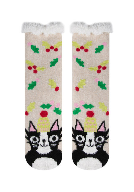 Ladies'  Cat Slipper Socks