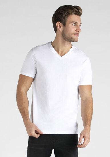 Men's Everyday V-neck Tee, WHITE, hi-res