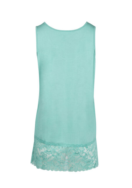 Ladies' Cage Neck Lace Tunic Tank, TOPAZ, hi-res