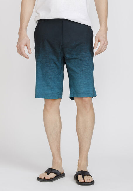 Men's Teal Ombre Hybrid Short