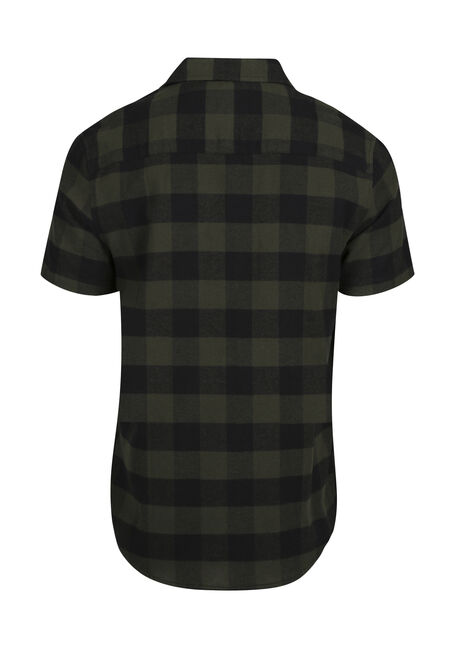 Men's Relaxed Plaid Flannel Shirt, PINE, hi-res