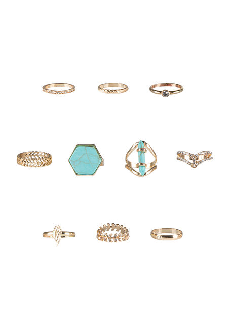 Ladies' 10 Piece Ring Set