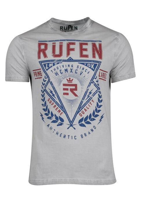 Men's Crest Graphic Tee, GREY, hi-res
