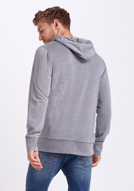 Men's Washed French Terry Hoodie, ASH, hi-res
