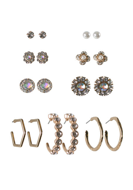 Ladies' 9 Pair Dressy Earring Set
