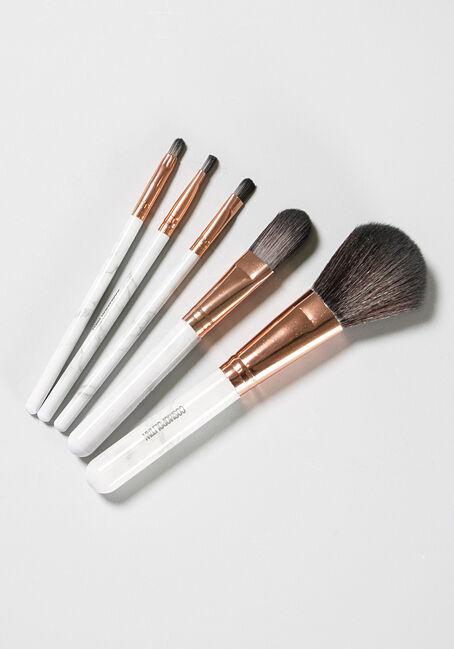 Women's Cosmetic Brush Set, WHITE, hi-res
