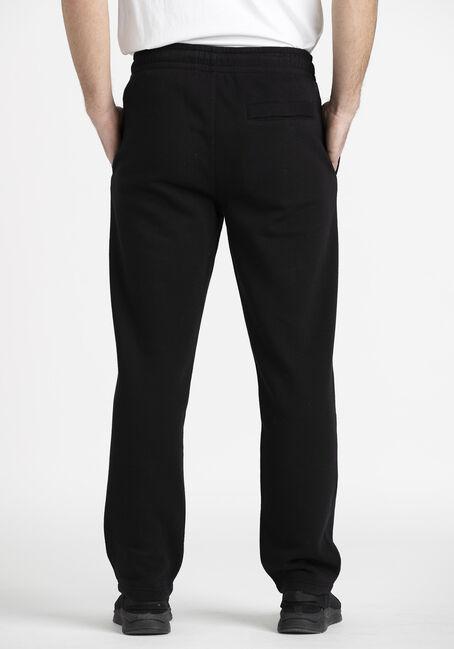 Men's Open Bottom Fleece Pant, BLACK, hi-res