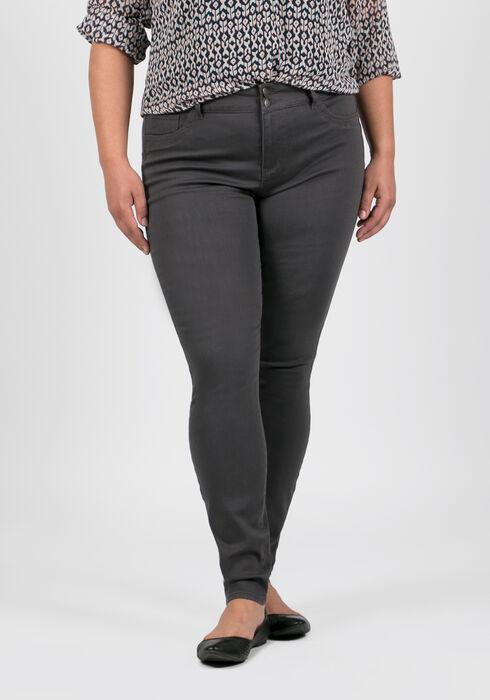Women's Plus Size Skinny Pants, GREY, hi-res