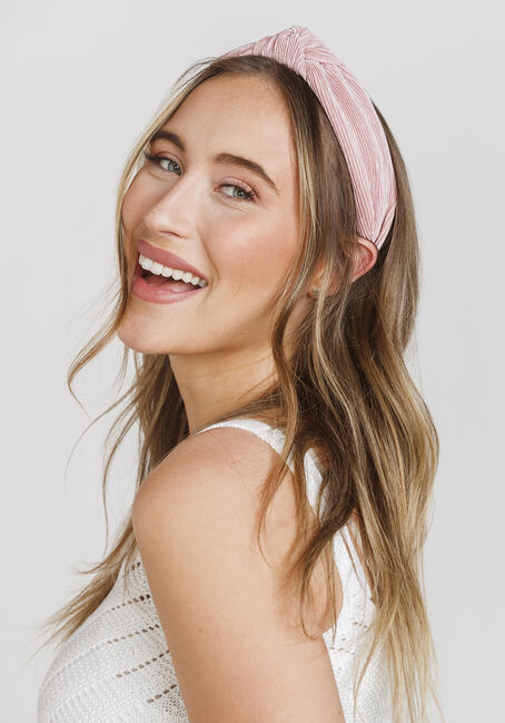 Women's Knot Top Headband, PALE PINK, hi-res