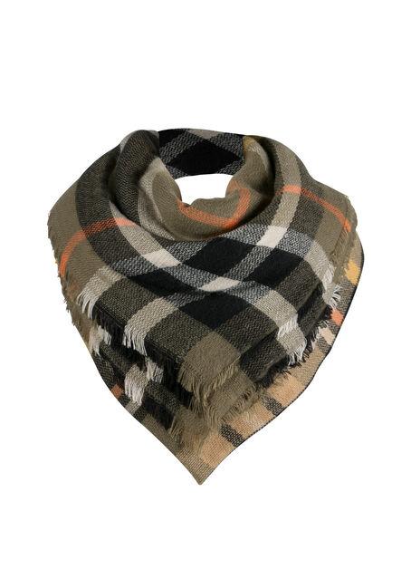 Ladies' Plaid Blanket Scarf