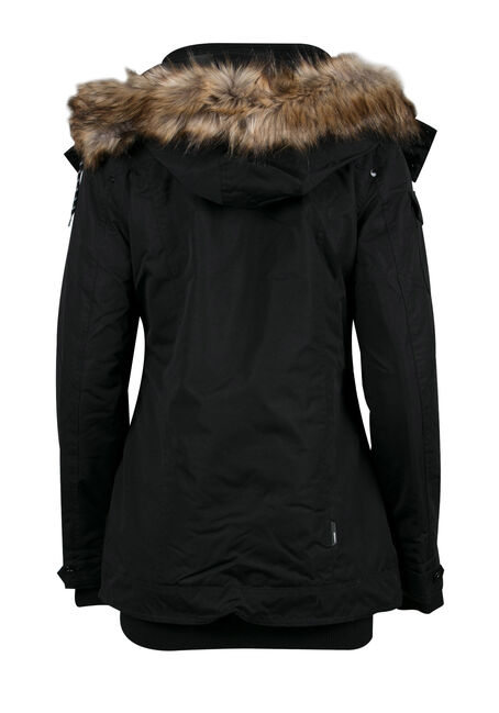 Ladies' Utility Parka, BLACK, hi-res