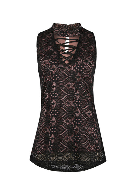 Ladies' Crochet Overlay Lace Tank