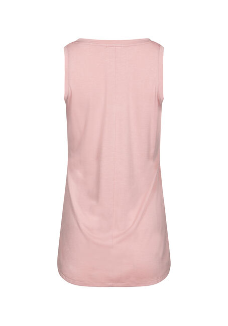 Women's Relaxed Fit V-Neck Tank, DUSTY PINK, hi-res