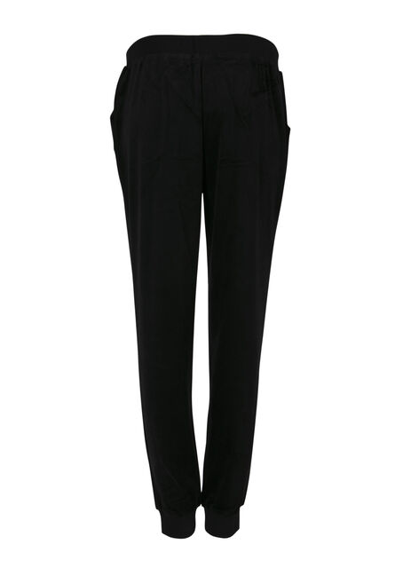 Ladies' Velour Jogger, BLACK, hi-res