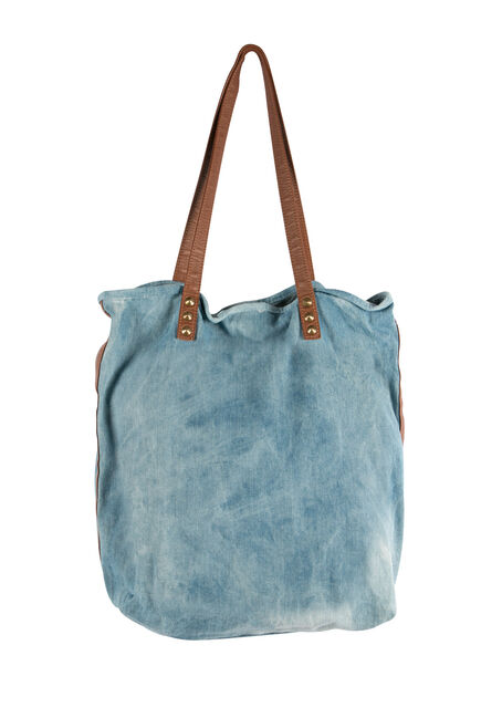 Ladies' Denim Tote, MEDIUM VINTAGE WASH, hi-res