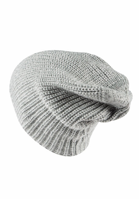 Women's Canada Slouchy Hat, GREY, hi-res