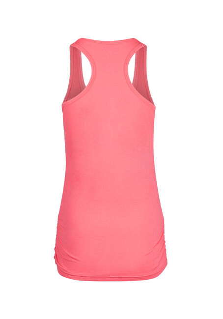 Ladies' Super Soft Ruched Tank, HOT PINK, hi-res