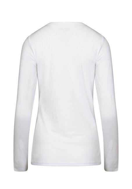 Women's Long Sleeve Tee, WHITE, hi-res