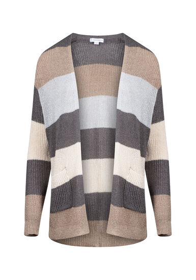 Women's Striped Cardigan, MULTI, hi-res