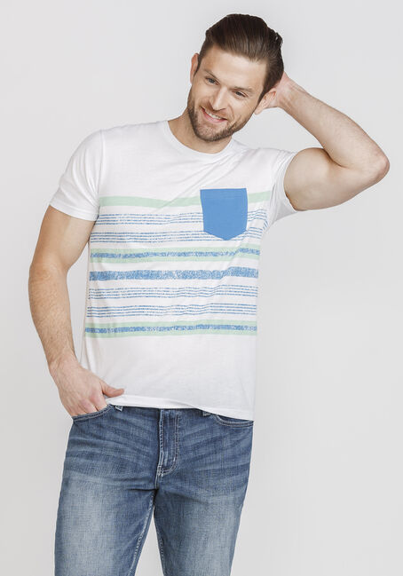 Men's Everyday Striped Pocket Tee, ROYAL BLUE, hi-res